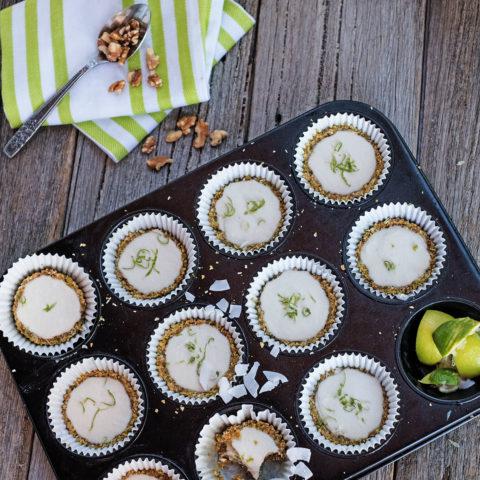 Limetten-Matcha-Pie